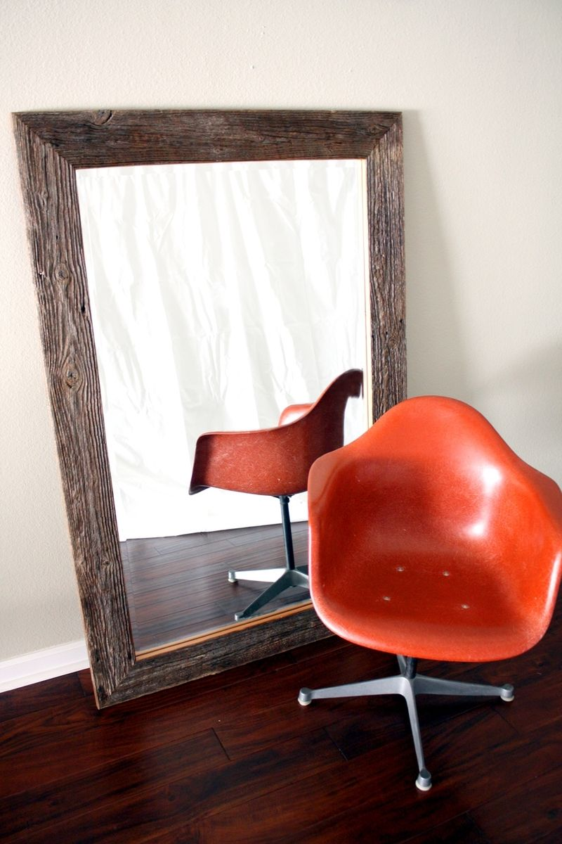 Handmade Reclaimed Wood Framed Mirror Custom Sizes By