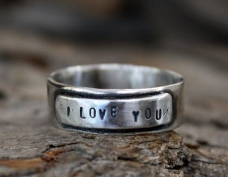 Custom Made Sterling Silver I Love You Ring - Custom Engraving, Unisex