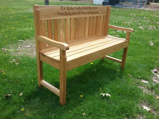 Custom Made Solid Oak Garden Bench
