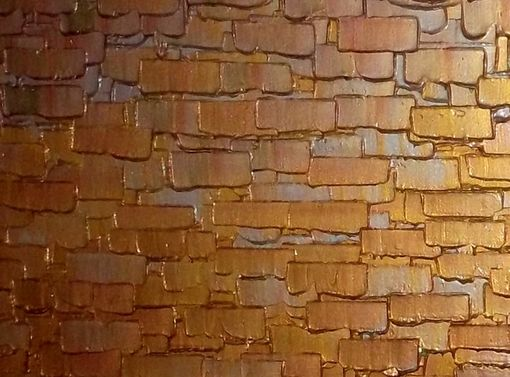 Custom Made Abstract Painting, Gold Original Art, Palette Knife, Textured Impasto, By Lafferty Art - 48x24