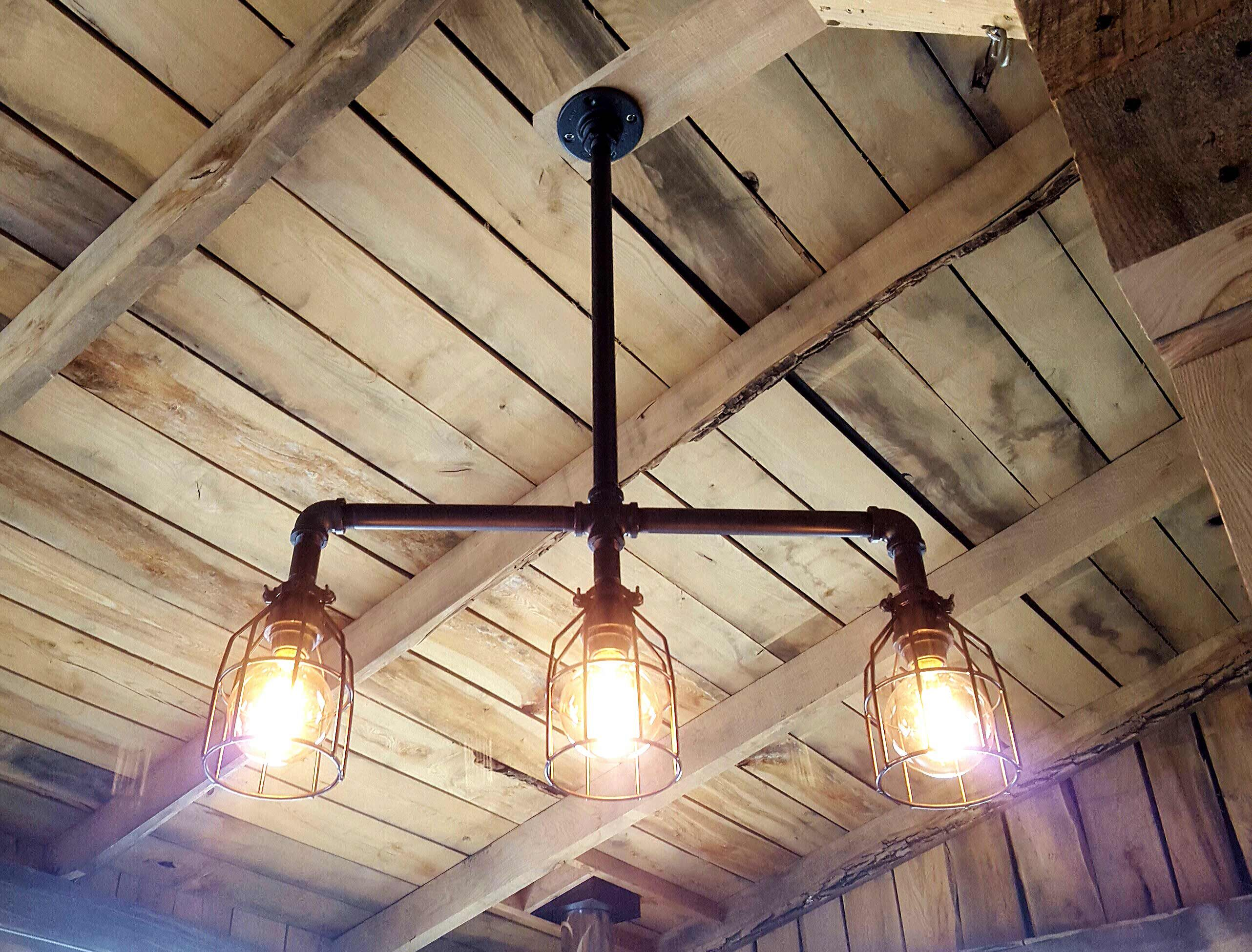 Buy a Custom Made Rustic Industrial Chandelier Black Pipe With