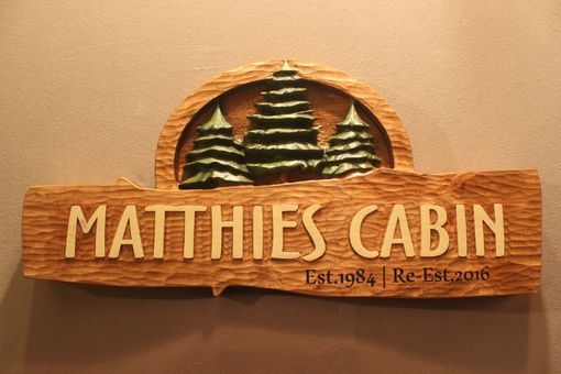 Custom Made Custom Carved, Handmade Cabin Signs By Lazy River Studio