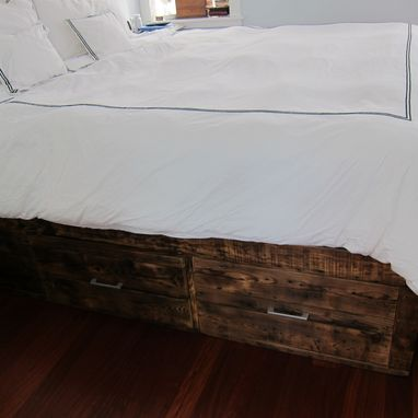 Custom Made King-Size Bed With Storage And Headboard
