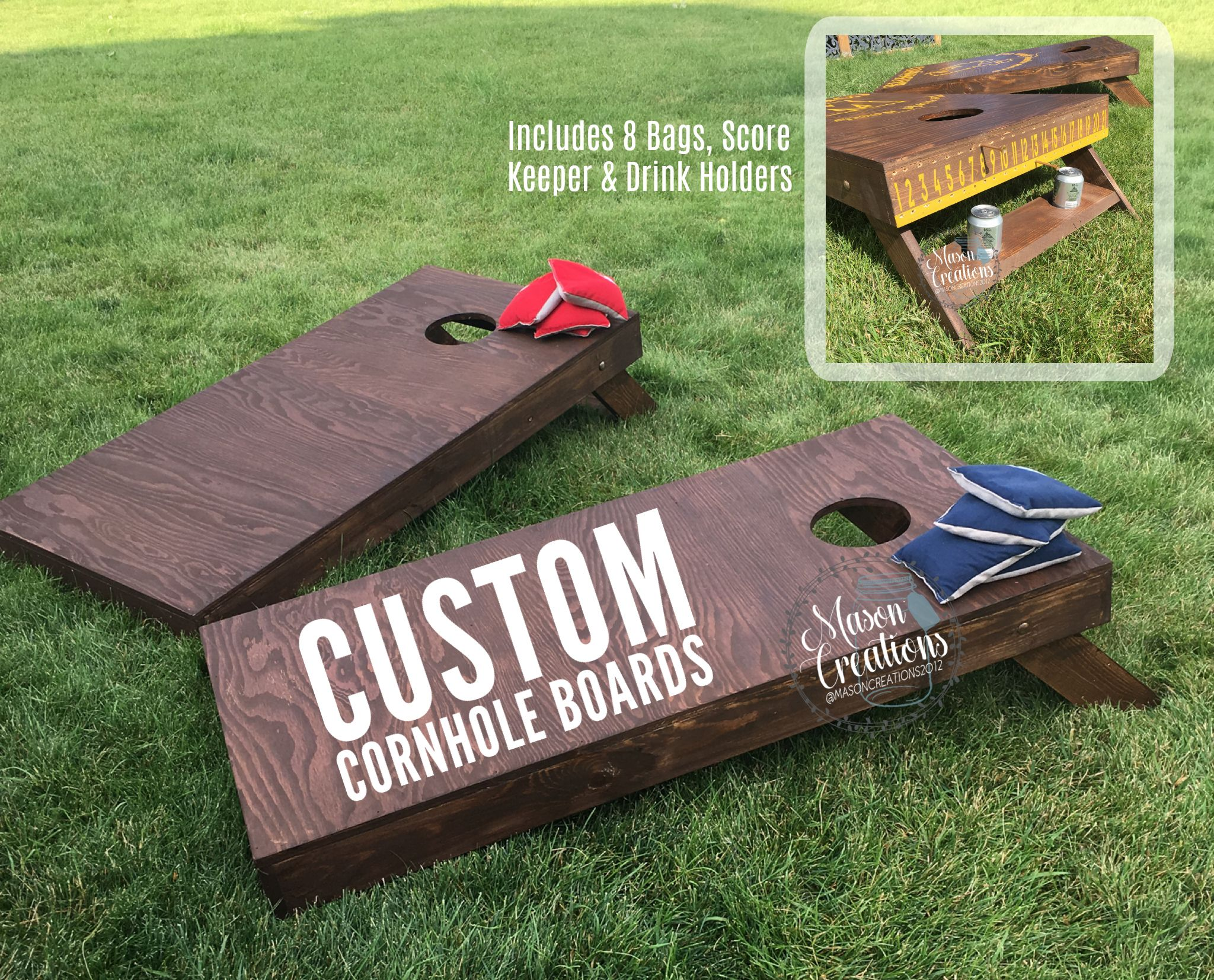 Custom Made Board Yard Wedding Gift Score Bags