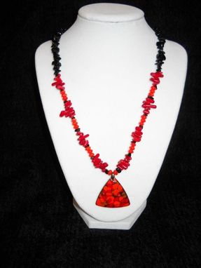 Custom Made Coral Multistrand Necklace
