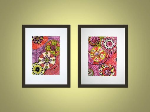 "Custom Made Fine Art Print Chakras Orange Yellow Magenta 5""X7"" Reproduction"