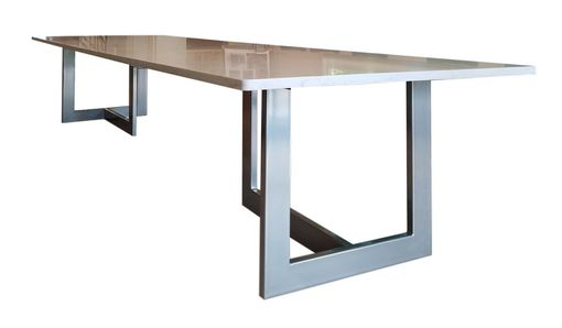 Custom Made Metal Dining Table Base (Tribeca Slim)