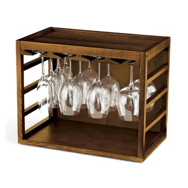 Custom Made Wine Glass And Bottle Racks