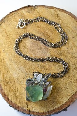 Custom Made Green Fluorite Minerals Pendant