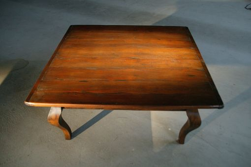 Custom Made Coffee Table, Antique Walnut Finish, French Legs.