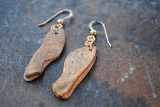 Custom Made Bronze Samara (Maple Seed) Earrings