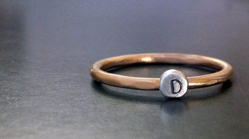 Custom Made Pebble Ring In Mixed Metal