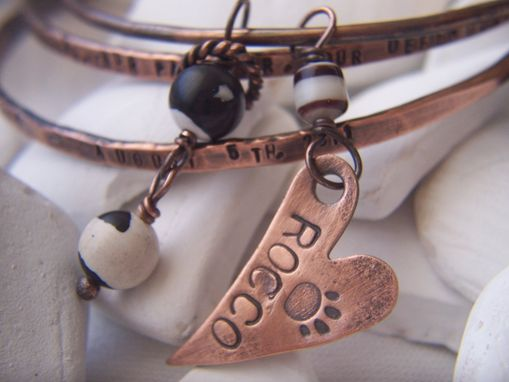 Custom Made Copper Bangle Bracelet Set