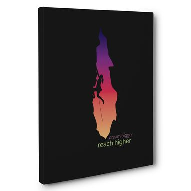 Custom Made Dream Bigger Reach Higher Canvas Wall Art