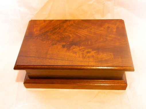Custom Made Walnut Jewelry Box With Till