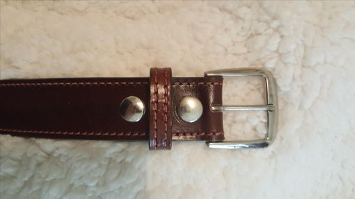 Custom Made Antique Brown Leather Belt (Made To Order)