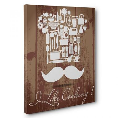 Custom Made I Like Cooking Kitchen Canvas Wall Art
