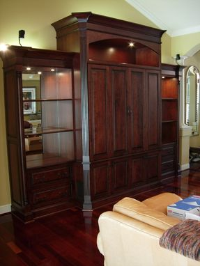 Custom Made Cherry Media Cabinetry