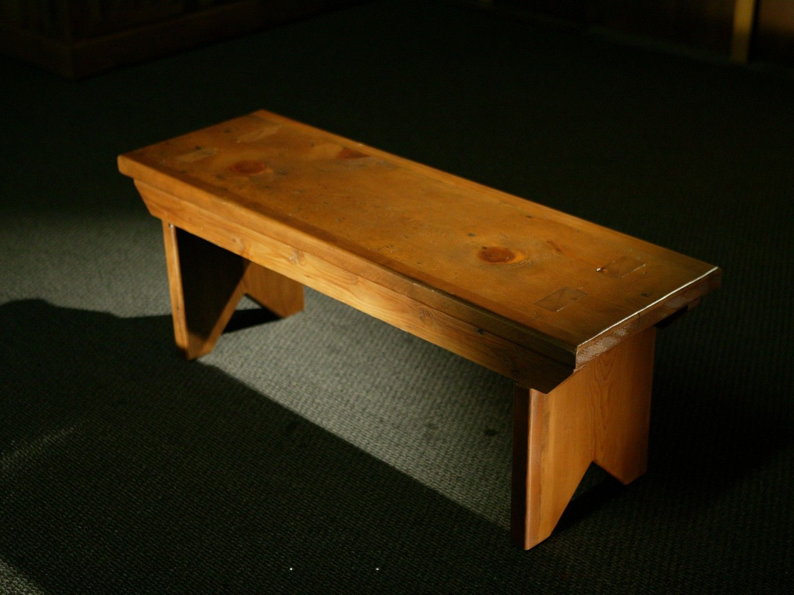 Custom Made Rustic Reclaimed Barn Wood Plank Bench By