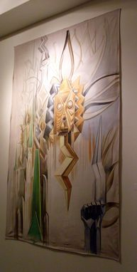Custom Made Art Deco Oracle On Park Avenue Painting Nyc Mural Artist