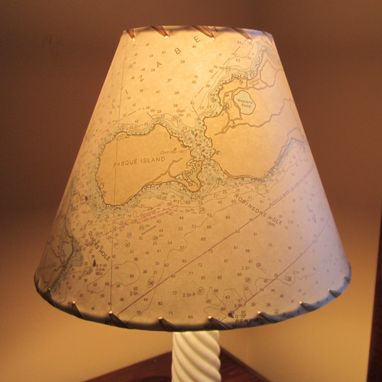 Custom Made Lampshade Made With Noaa Ocean Chart