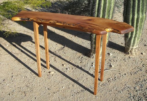 Custom Made Mesquite Hall Table