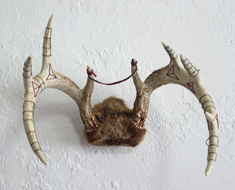 Custom Made Embroidered Deer Antlers
