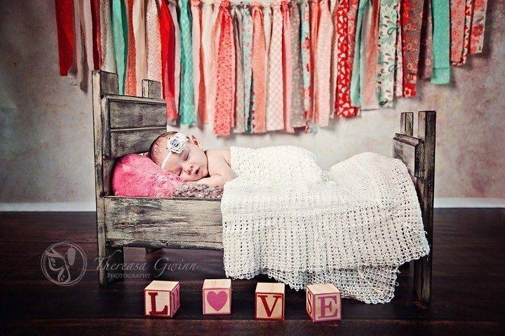 Custom Made Rustic Baby Bed Prop