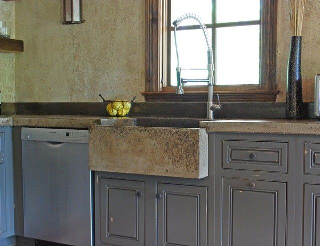 Custom tuscan kitchen farm sink by michael demay company - Kitchen sinks austin tx ...