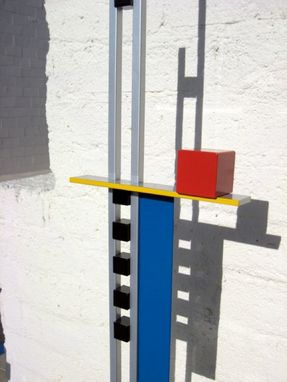 "Custom Made Mondrian-Inspired Metal Sculpture ""Level 1"""