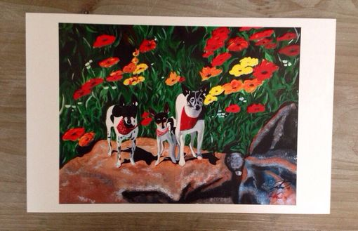 "Custom Made Titled ""Doggies"" Print"