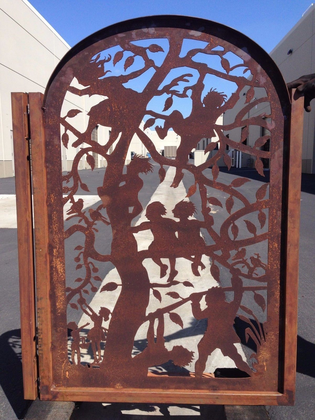 Buy A Handmade Metal Gate Iron Children Trees Entry