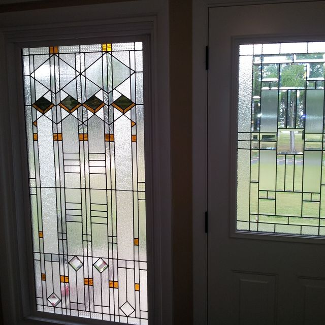Hand Made Stained Gl Window Elegant Arts And Crafts Style W 61 By Terraza Custommade