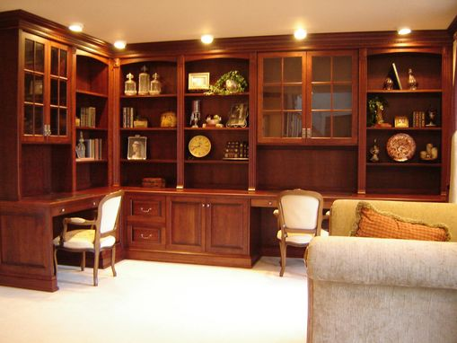 Custom Made Home Office Cabinetry In Cherry