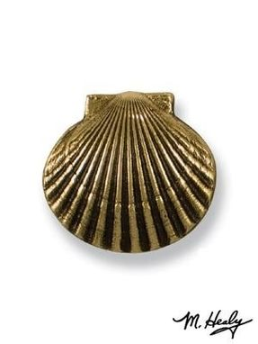 Custom Made Sea Scallop Door Knocker Brass Solid