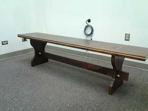 Custom Made Walnut Coffee Table With Quartermatched Top And Maple Accent