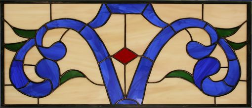 Custom Made Traditional Stained Glass Transom