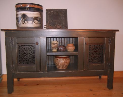 Custom Made Vintage Heat Register Console