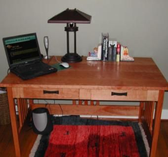Custom Made Mission Cherry Desk