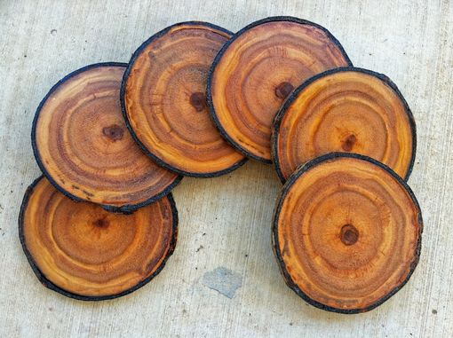 Custom Made Coasters, Gift Wrapped Colorado Aspen Wood Coasters - Set Of 6