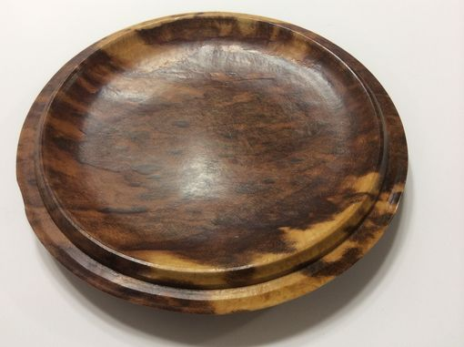 Custom Made Marble Figured Maple Burl Plate/ Dish