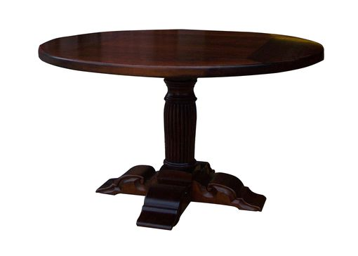 "Custom Made Handcrafted Pedestal Cherry Table 60"" Round"