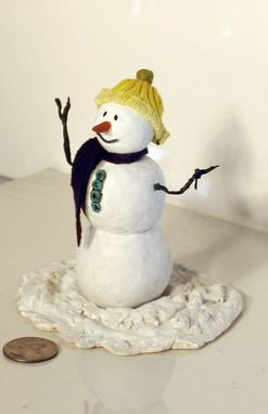 Custom Made Dollhouse Snowman 1:12 Scale ~ Get This Guy Outta Here! :D
