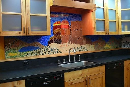 Custom Made Ski House - Kitchen Mosaic
