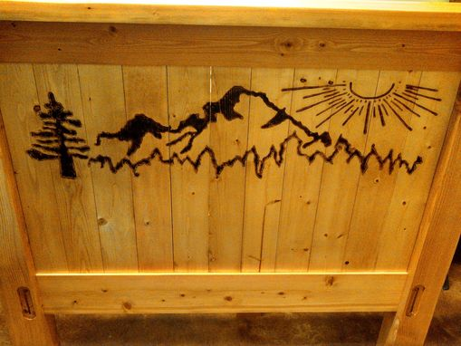 Custom Made Inspired Design Custom Wood Queen Craftsman Headboard Fir & Pine