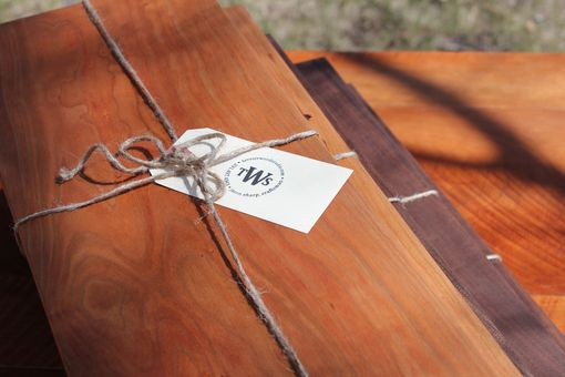 Custom Made Contemporary Cutting Boards/ Serving Trays With Dovetailed Feet