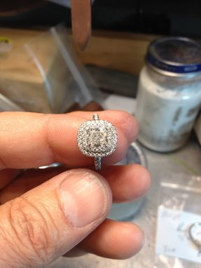 Custom Made Double Halo Ring