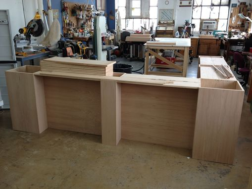 Custom Made Oak Counter Store