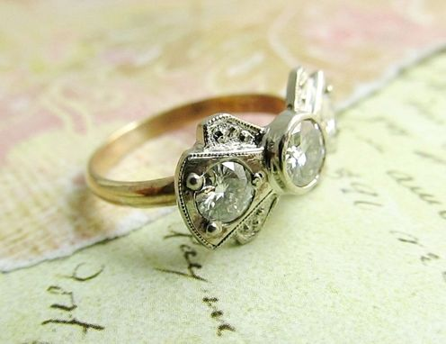 Custom Made Vintage Inspired Engagement Ring