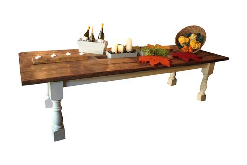 Custom Made Thrashing Board Farm Dining Table, Reclaimed Barn Wood From 1800s